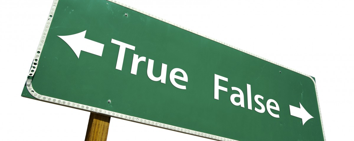 True or False Green Road Sign